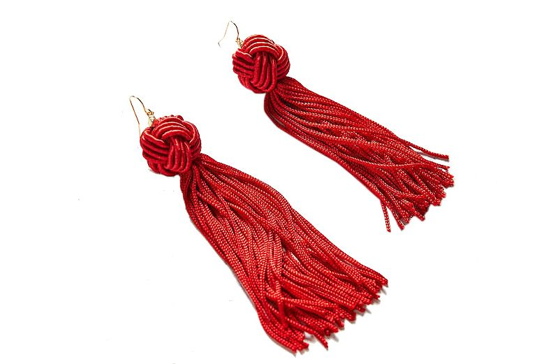 Vanessa Mooney tassel knot earrings