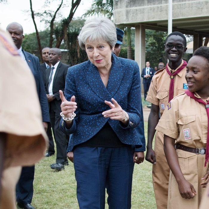 Theresa May in Kenya.