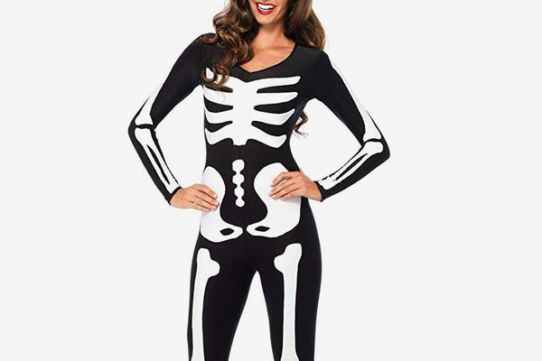 Leg Avenue Women's Glow-in-the-Dark Skeleton Bodysuit Halloween Costume