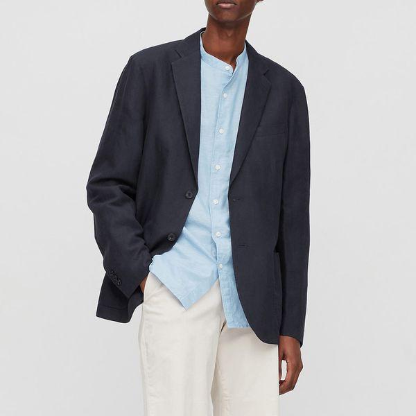 UNIQLO Men's Linen Blended Jacket