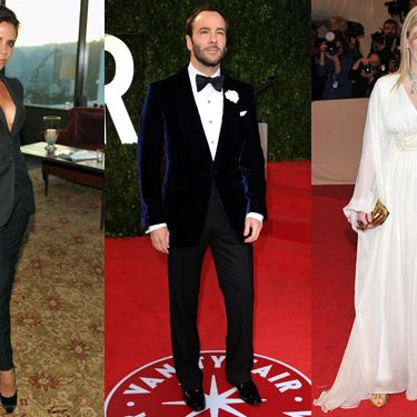 From left: BFA nominees Victoria Beckham, Tom Ford, and Sarah Burton.
