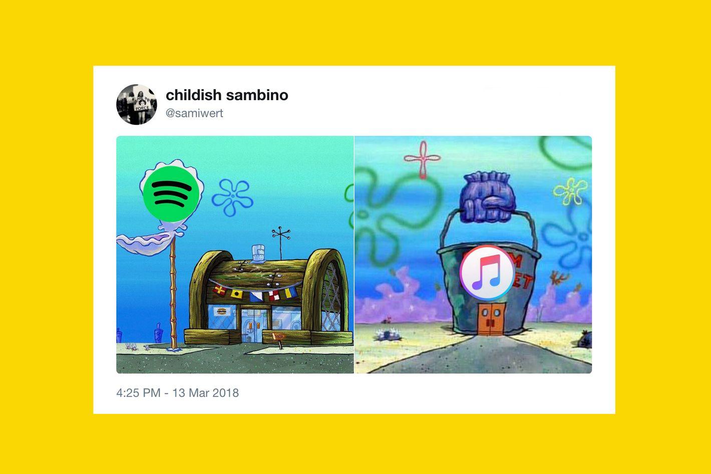 The krusty krabchum bucket rivalry spongebob meme explained