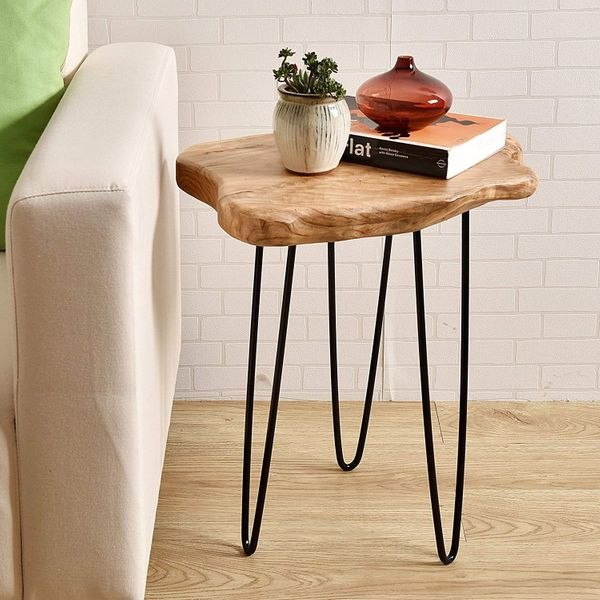 WELLAND Natural Edge End Table