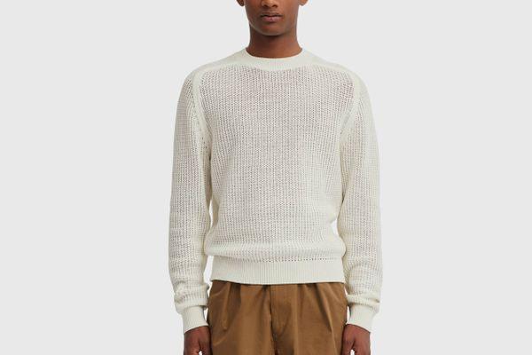 Men U Cotton Crew Neck Long-Sleeve Sweater