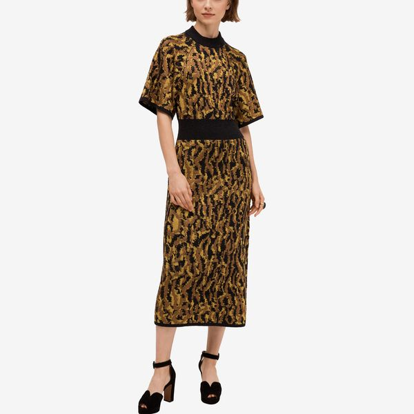 Multi color print Kate Spade Mockneck Sweater Dress - Strategist best sweater dress for women